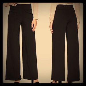 NWT Max Studio Black Wide Leg Dress Ponte Pant SzS